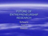 Future of Entrepreneurship Research