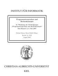 institut f¨ur informatik christian-albrechts-universit - Institut für ...