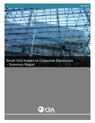 Smart Grid Impact on Consumer Electronics – Summary Report