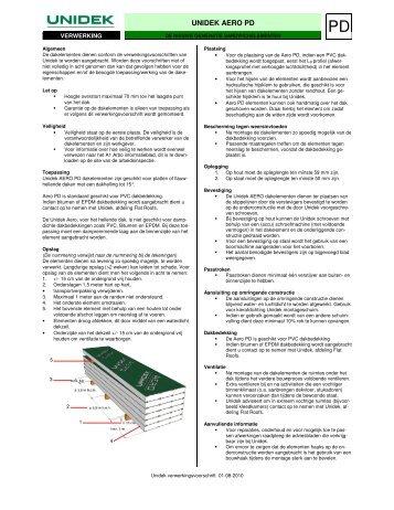 Aero PD verwerking - Unidek