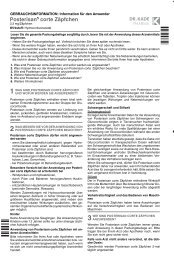 beipackzettel posterisan corte zaepfchen - Dr. Kade