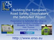 Building the European Road Safety Observatory - ERSO - Swov