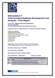 Fatal Accident Database Development and Analysis - ERSO