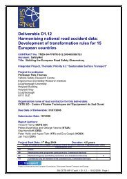 Deliverable D1.12 Harmonising national road accident data ... - ERSO