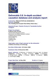 In-depth accident causation database and analysis report - ERSO