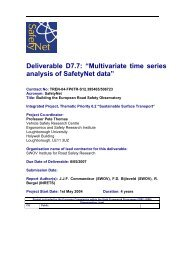 D7_7_Multivariate time series analysis of SafetyNet ... - ERSO - Swov