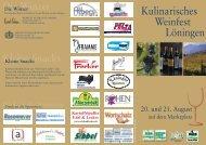 Kulinarisches Weinfest Löningen - Verkehrsverein Löningen im ...