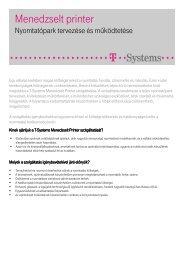 Részletes, letölthető termékleírás ( pdf, 231 kB ) - T-Systems