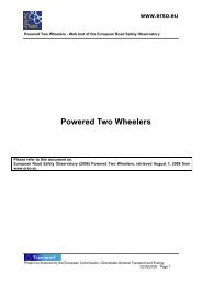 Powered Two Wheelers – Web text of the European ... - ERSO - Swov