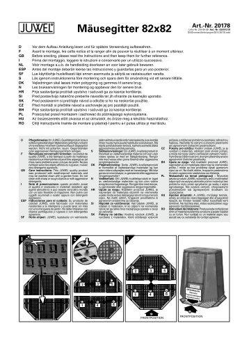Mäusegitter 82x82 - Juwel