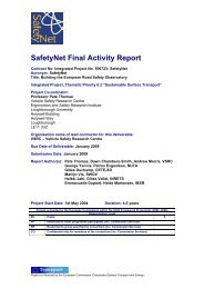 SafetyNet Final Activity Report - ERSO - Swov