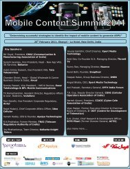 Mobile Content Summit 2011 - CCAOI