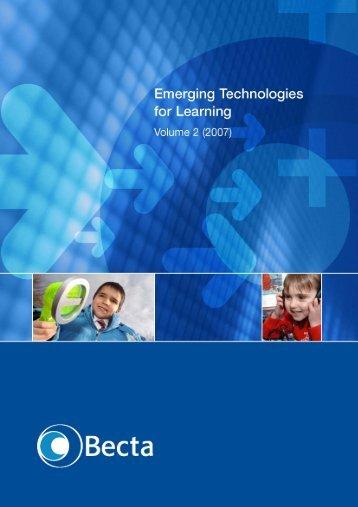 Emerging Technologies 2007 - PGCE