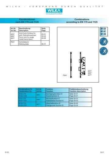 B1-D B1-E B1-B Kombinationen nach EN 179 und 1125 ... - Market