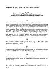 Satzung der Rehabilitationseinrichtungen der DRV KBS (PDF/23