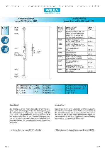 L7-O Kombinationen nach EN 179 und 1125 Combinations ... - Market