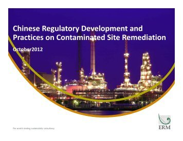 Chinese Regulatory Development and Practices on ... - ERM