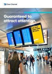 Flight Information Media at Airport Zurich - Clear Channel