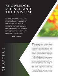 knowledge, science, and the universe chapter 1 - Physical Science ...