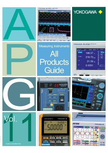 All Products Guide 11Vol. - Yokogawa