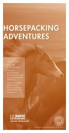 Summer 2013 Equine Courses - UC Davis Extension