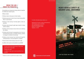 heavy vehicle safety at railway level crossings - DPTI - SA.Gov.au
