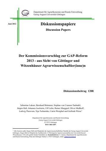 Diskussionspapiere - Georg-August-Universität Göttingen