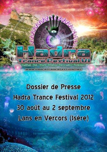 Dossier de Presse Hadra Trance Festival 2012 30 août au 2 ...