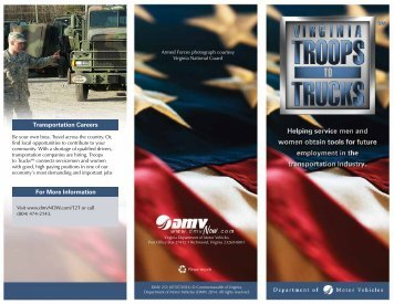 flyer - Virginia Department of Motor Vehicles
