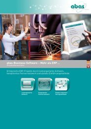 pdf-Datei - ABAS Informationstechnologie GmbH