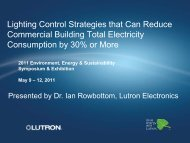 Lighting Control Strategies that Can Reduce Commercial ... - E2S2