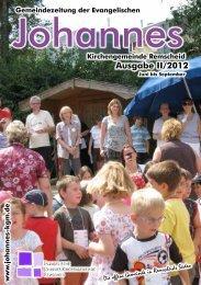 Ausgabe II/2012 - Evangelische Johannes-Kirchengemeinde ...