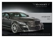 OVERVIEW 2012 - Mansory