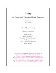 Curry: An Integrated Functional Logic Language