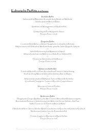 Kulinarische Buffets - HRK Catering