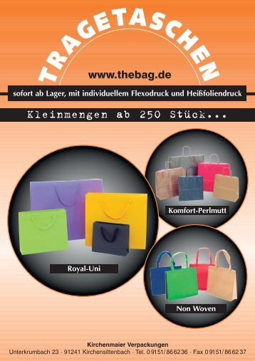 Papier–Tragetaschen - Kirchenmaier Verpackungen