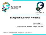 Proiectul EuropeanaLocal în România