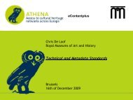 Technical and Metadata Standards - EuropeanaLocal