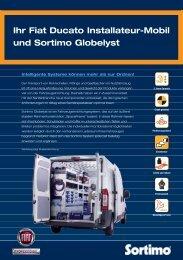 Ihr Fiat Ducato Installateur-Mobil und Sortimo Globelyst