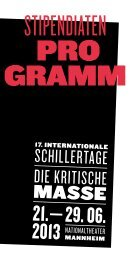 Seminarprogramm - 17. Internationale Schillertage