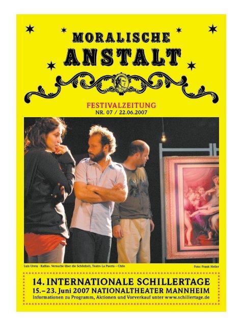 festivalzeitung nr. 07 / 22.06.2007 - 17. Internationale Schillertage