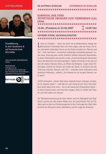 karneval der tiere (ua) - 17. Internationale Schillertage