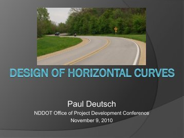 Design of Horizontal Curves