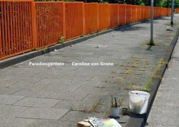 Paradiesgärtlein Caroline von Grone - Holger Priess Galerie Hamburg