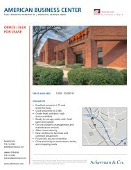 office / flex for lease american business center - Ackerman & Co.