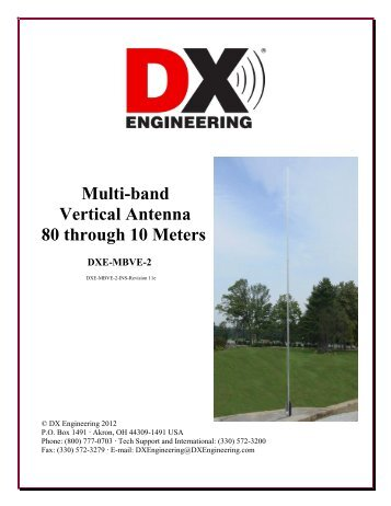 Multi-band Vertical Antenna 80 through 10 Meters - DX Engineering