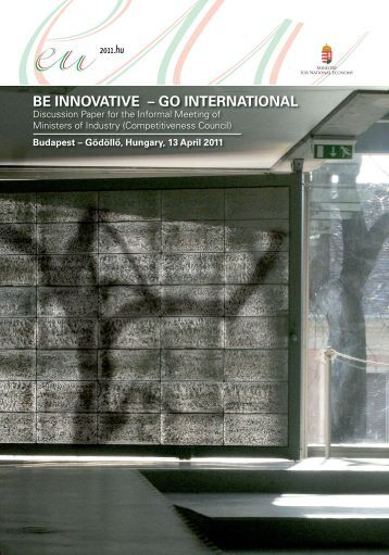 Be Innovative – Go International
