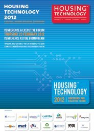 sponsor profiles - Housing Technology