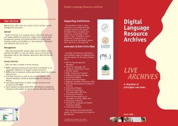 Live Archives Flyer (PDF)