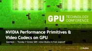 NVIDIA Performance Primitives & Video Codecs on GPU